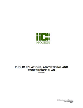 InfoCision – Public Relations Plan